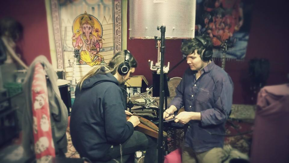 Action snap from the Monster Jaw sessions. The  Advanced Audio CM67  working overtime on vocal and dulcimer duties.