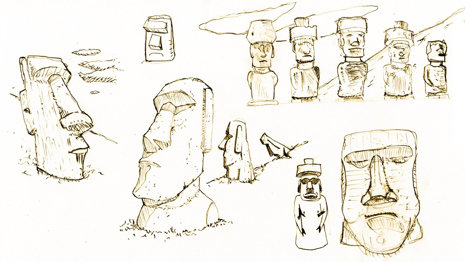 Thumbnail Sketches of Maoi by VxD    CC BY-SA 2.5 , via Wikimedia Commons