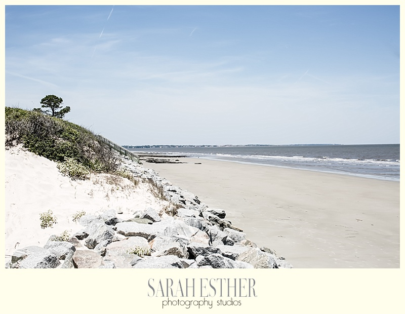 beach view jeckyll island georgia wedding