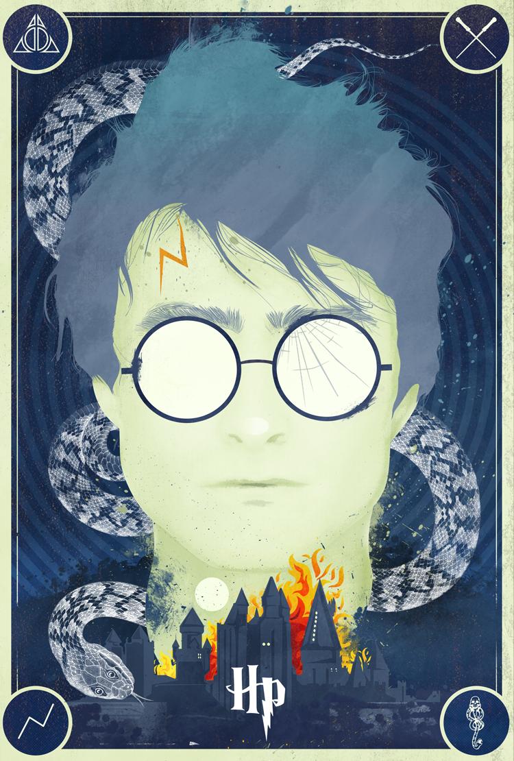 Harry Potter Tribute Print Laz Marquez