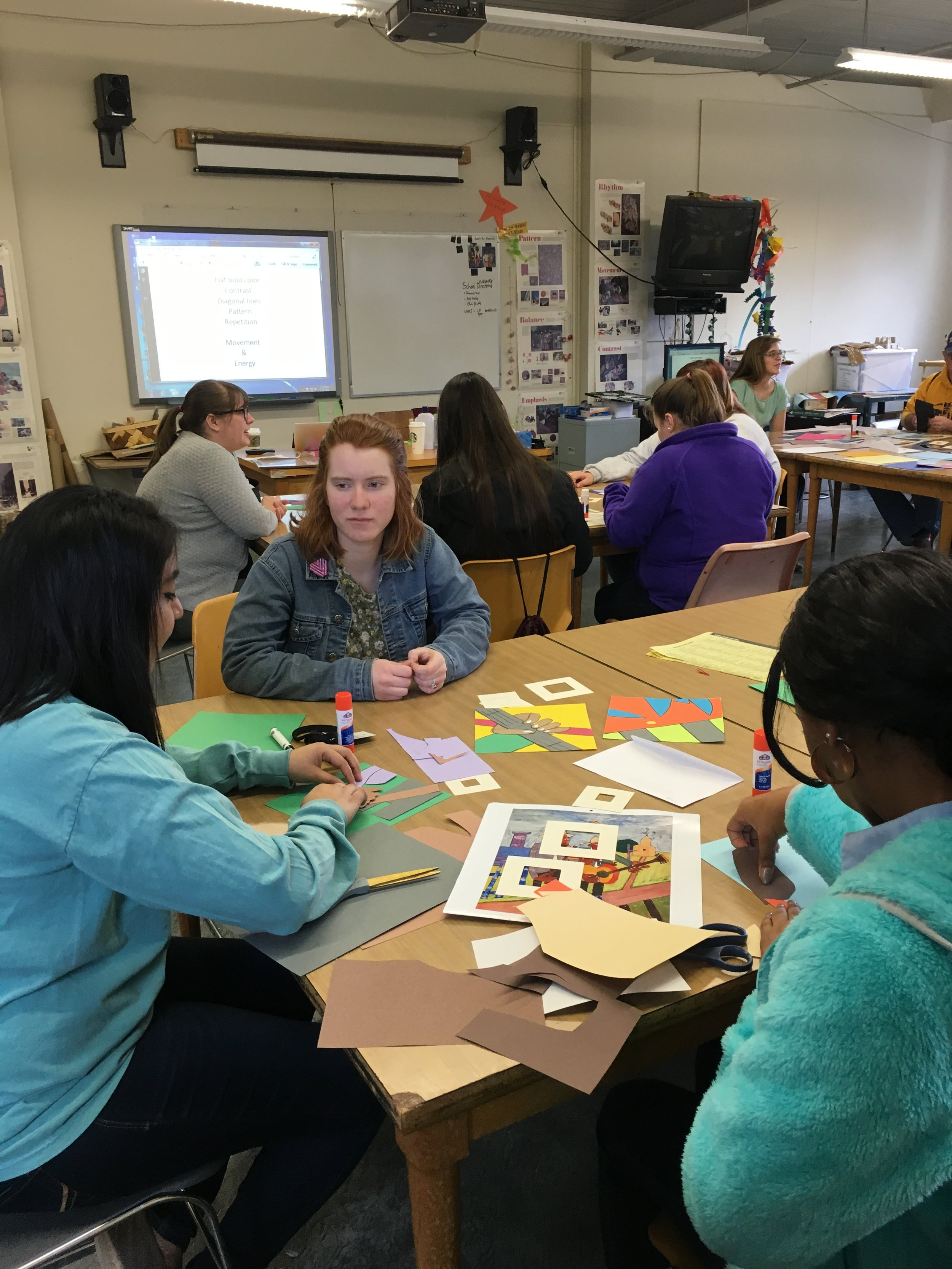 Copy of Teacher Cadet Day - studying SC artist William Henry Johnson as part of Black History Month.