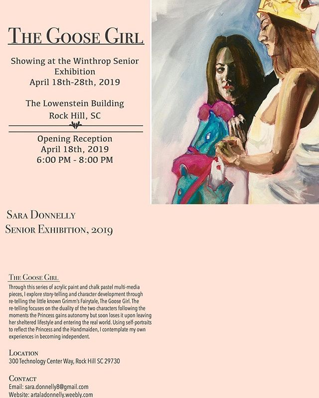 "Each day leading up to ""Synthesis,"" the Senior Fine Arts Exhibition, we will highlight one student exhibiting in the show. Today's student is Sara Donnelly, painting major.  Join us as we recognize these talented young artists April 18 from 6-8 p.m."