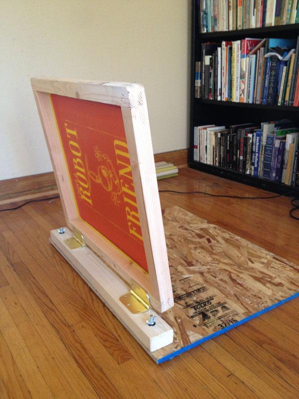My DIY screenprinting press.
