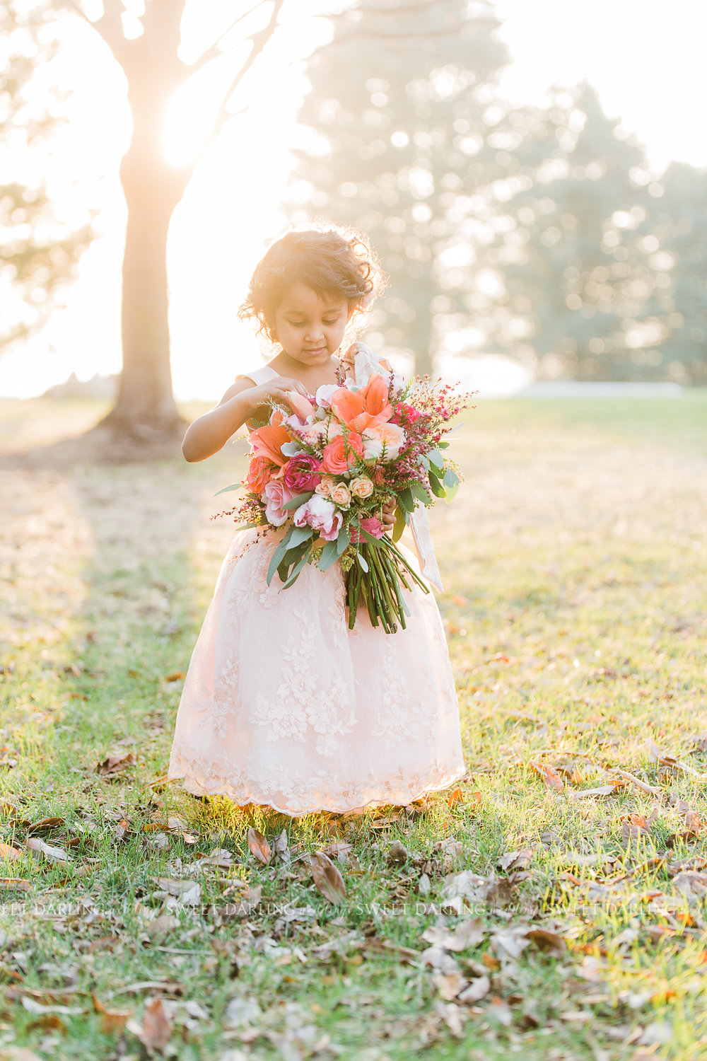 flower girl dream romantic wedding pinks greens.jpg