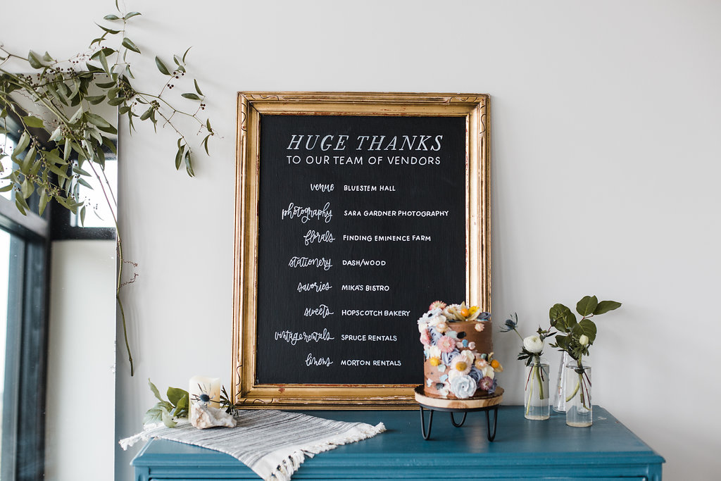 wedding sign chalkboard lettering