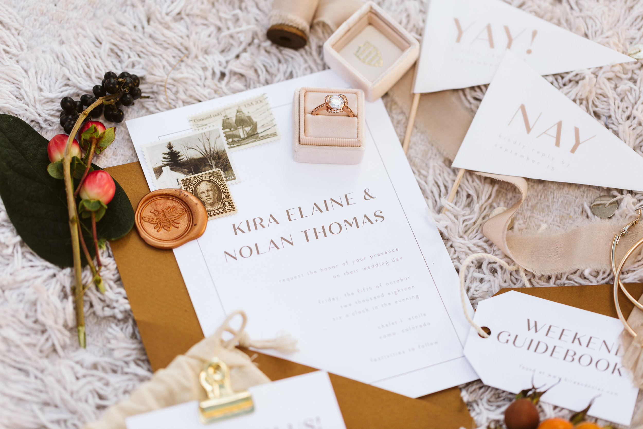 timeless, heirloom quality wedding stationery - intimate yet relaxed. clean and edited.