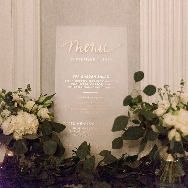 I worked with Kara and Landon to perfect their wedding signage, and was so happy they agreed with my suggestion of frosted acrylic. 😍 It was a perfect detail for their (beauuutiful!) elegant garden wedding! #weddingsigns #acrylicsigns #stylemepretty #eastcoastwedding #gardenwedding #dashwoodshop
