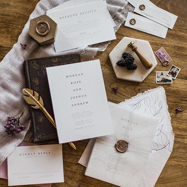 Monday lovelies to get you going ❤️ #weddingstationery #champaignwedding #centralillinoiswedding #stationerydesigner #weddingstationery #invitation #dashwoodweddings