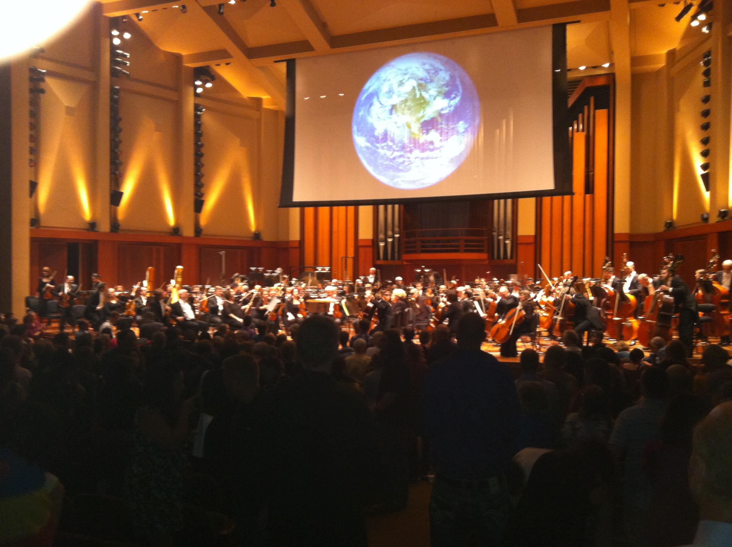 "What a stunning experience! I saw Holst's ""The Planets"" performed at Benaroya Hall with the Seattle Symphony playing. They had real life footage of each of the planets playing on a giant projection screen behind the orchestra to accompany the music. It was magical!"