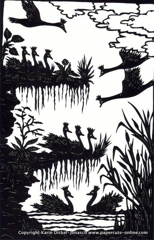 Die wilden Schwaene landen auf ihrer Insel.jpg