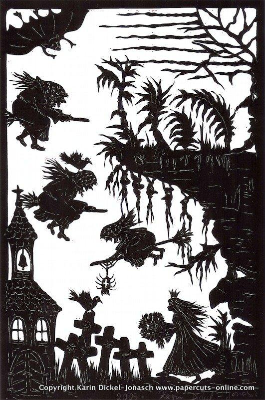 Die wilden Schwaene-Mitternachtshexen auf dem Friedhof.jpg