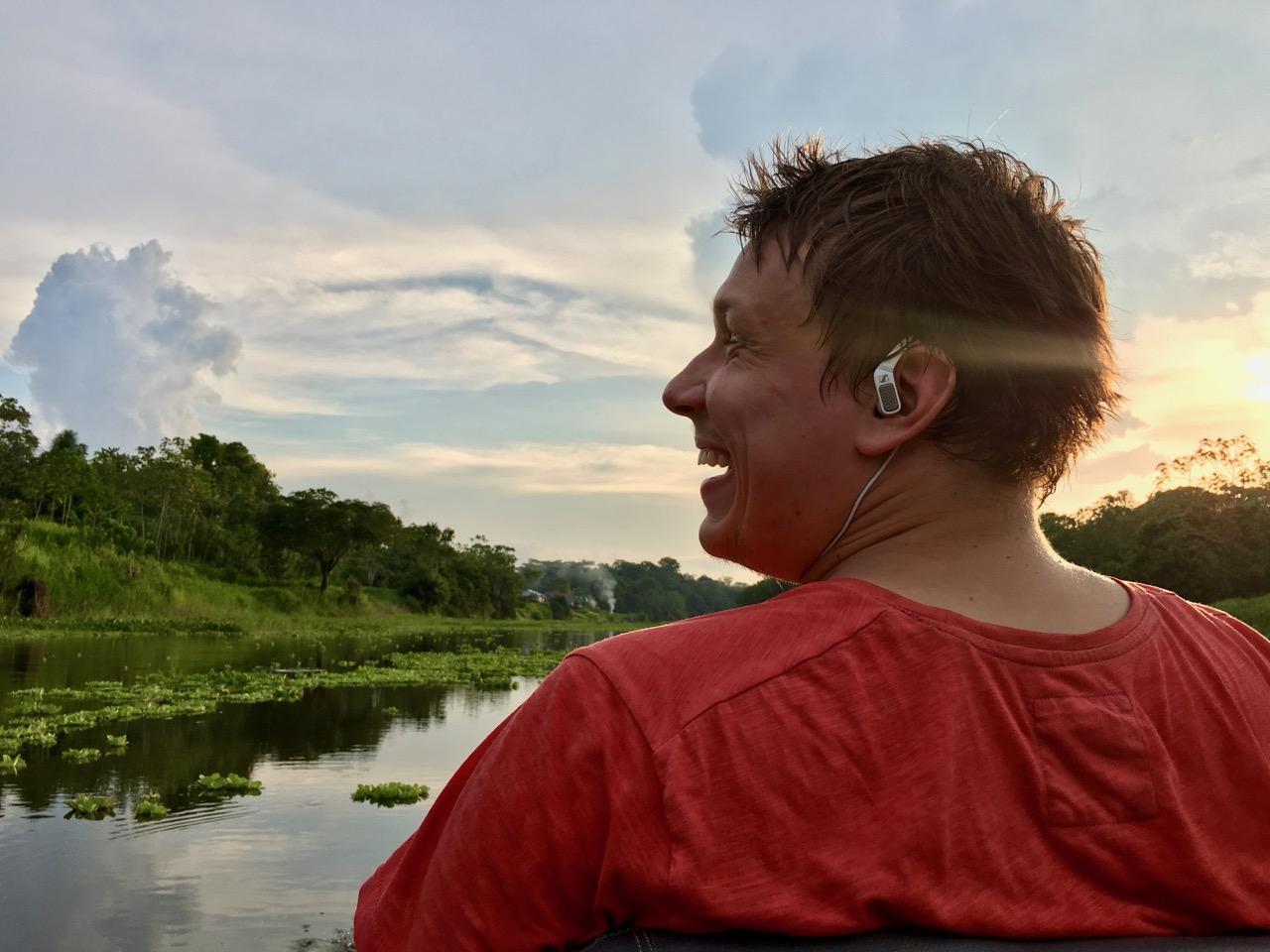 Meie grupi uus kohalik šamaan Jakob, väljateenitud indiaaninimega Llullu nü-nü (loe: Džudžu nu-nu). Foto: Kaidi Reinu /Amazonas Reisid
