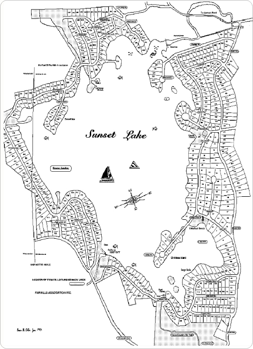 This is a map of Sunset Lake in Ashburnham MA.
