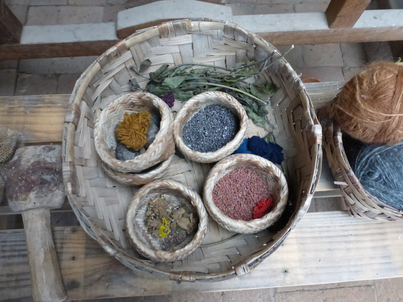 Natural Dyes are used for a wide range of colors