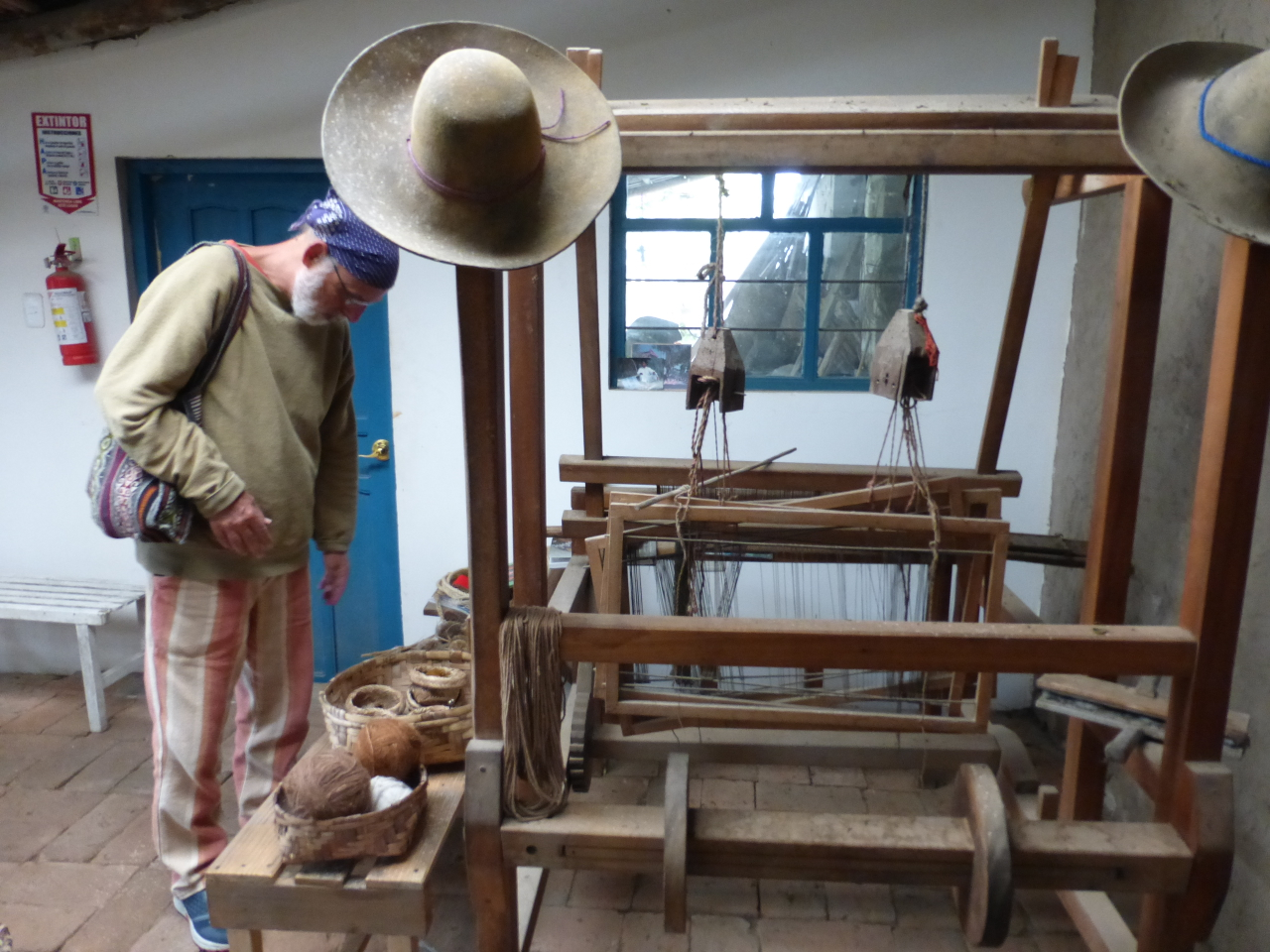 This studio also has a floor loom