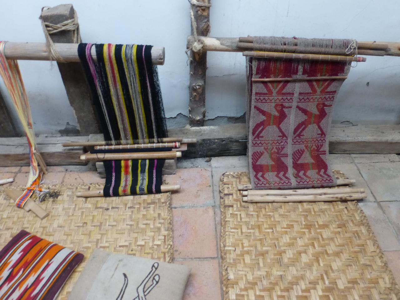 Backstrap Loom projects in process