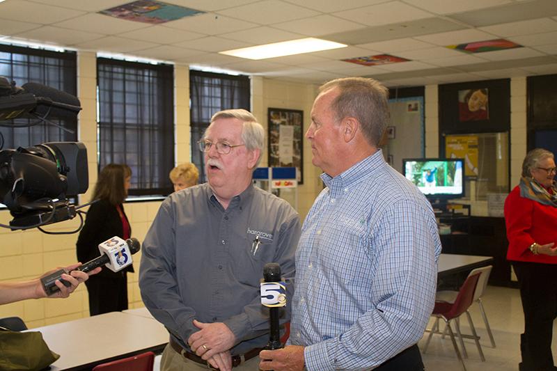 Dennis Watson, P.E. & Ralph A. Hargrove speak to the Media