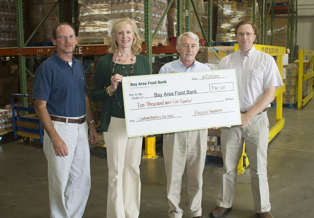 Hargrove Foundation presents check to Bay Area Food Bank