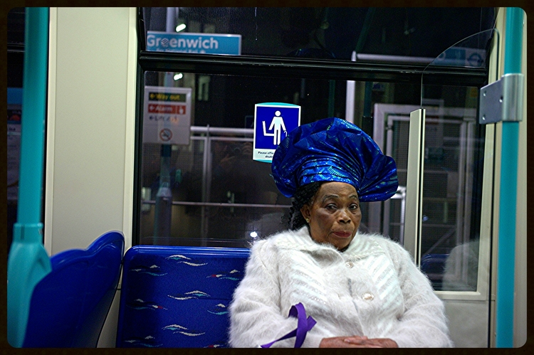 Woman on a Train : This is a set of portraits for the Greenwich Book .... My Greenwich.