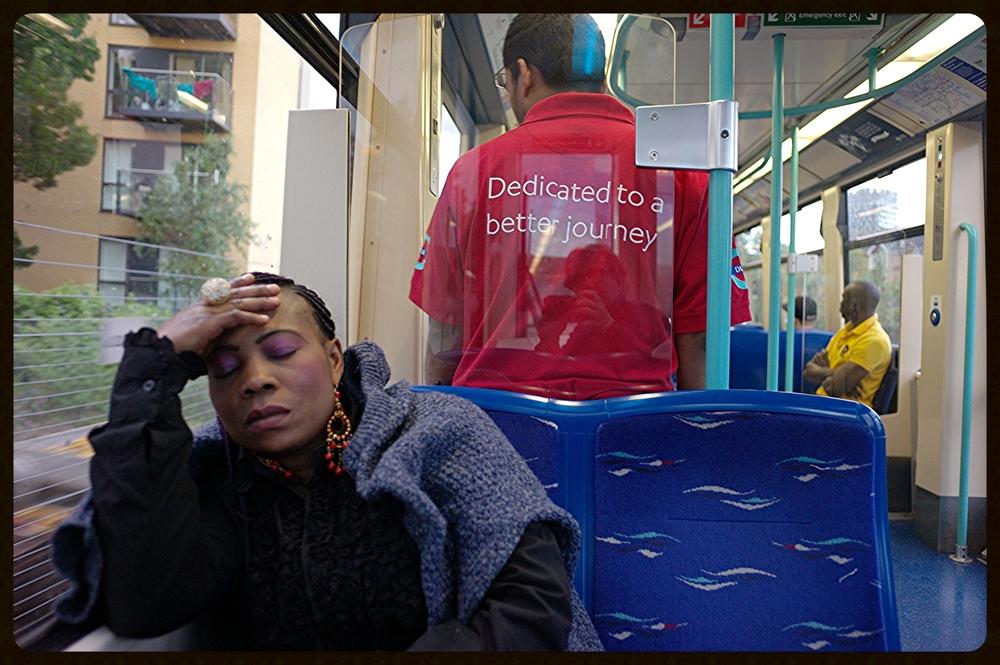 Woman on a Train : Greenwich