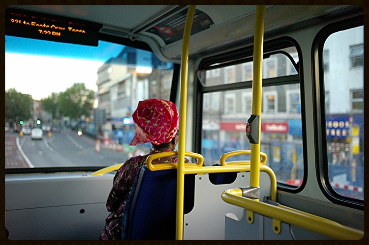 Woman on a Bus : Greenwich Area