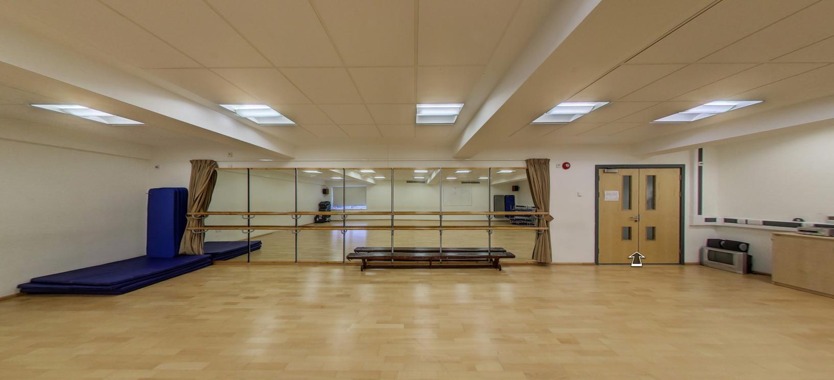 Dance Studio dimensions: 13m x 8m