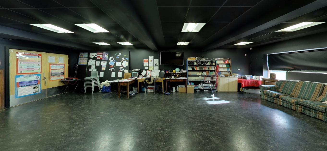 Drama Studio dimensions: 10m x 8.5m, 11m x 10m