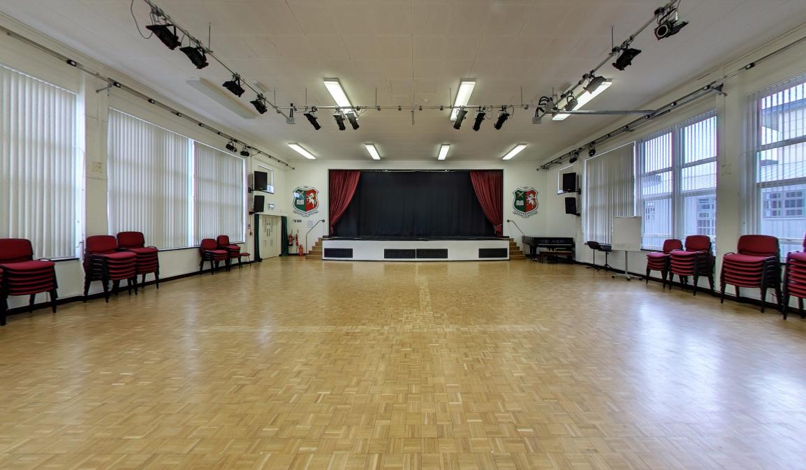 Mitchener Hall dimensions: 13m x 20m