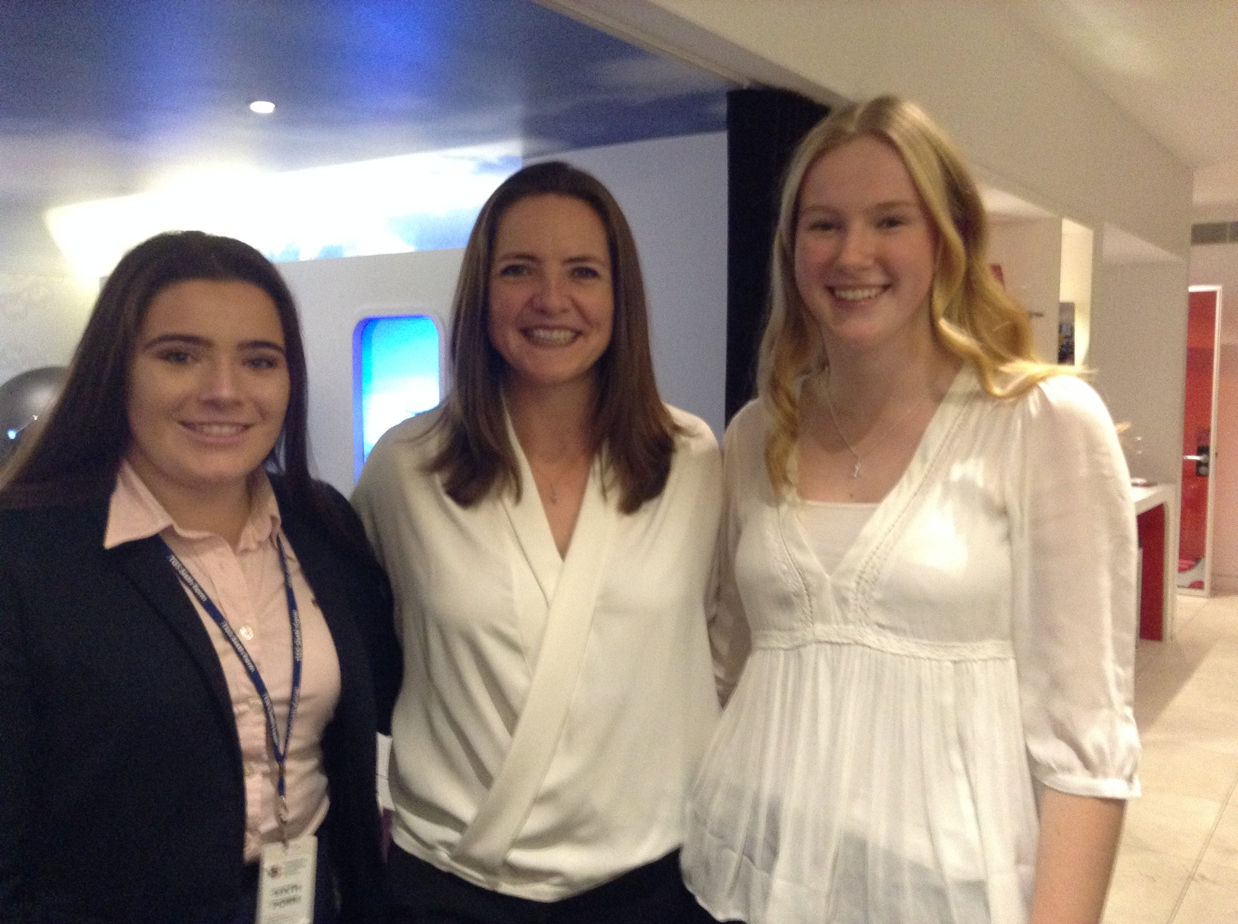 TGS Students with Olympian Goldie Sayers at the Campaign launch event this week