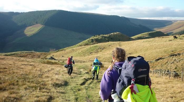 Hiking in the Peak District as part of the Gold Duke of Edinburgh Award