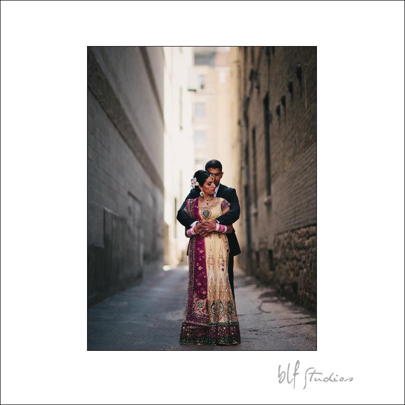 East Indian Wedding in Winnipeg bridal couple