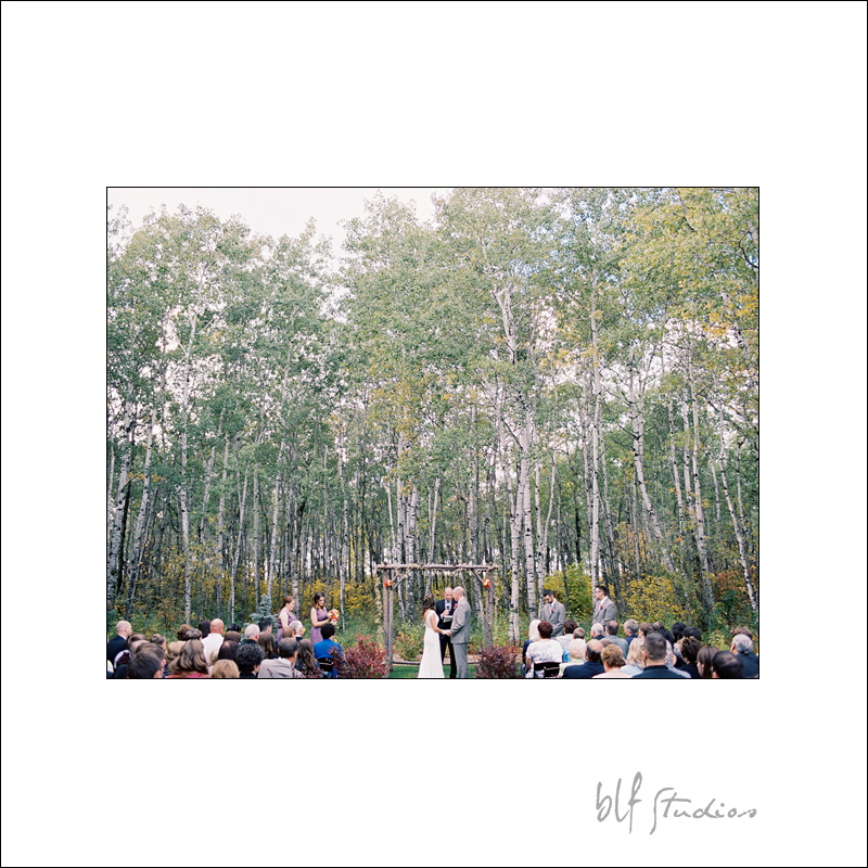 Outdoor wedding ceremony Ceilo Gardens Manitoba