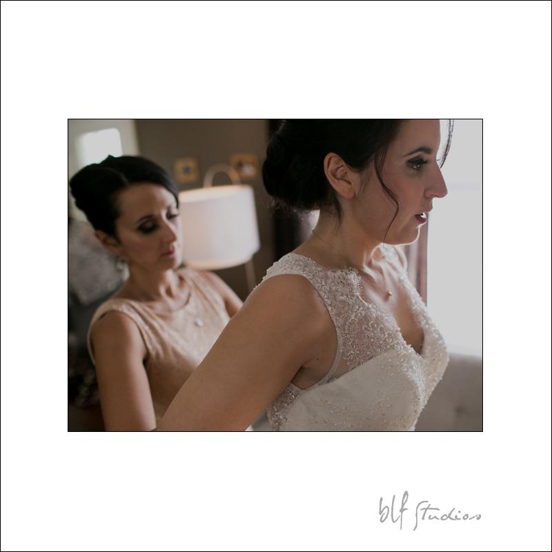 Bride getting ready in Winnipeg