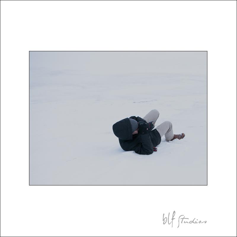Winnipeg wedding photographer in snow
