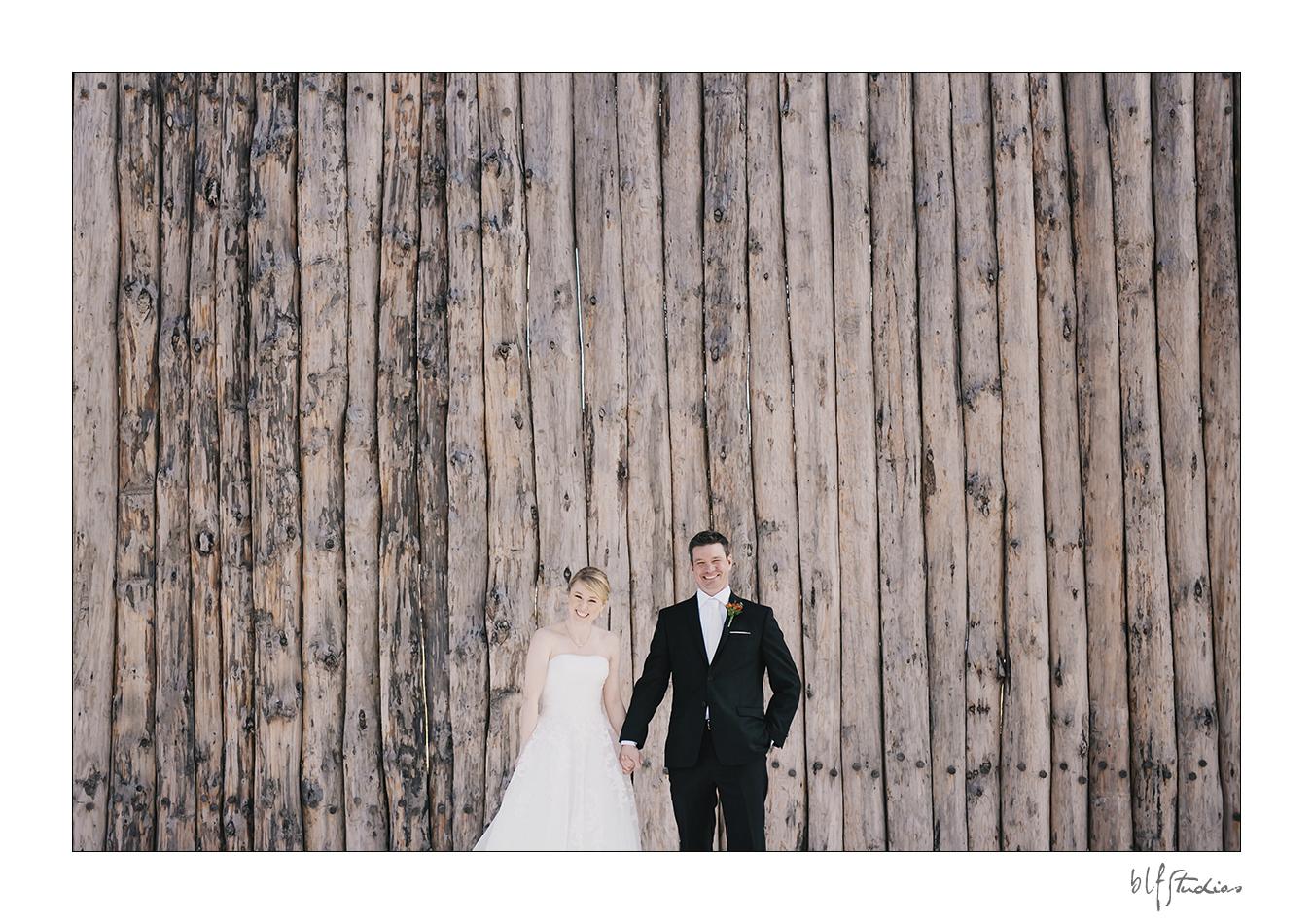Winter wedding at Fort Gibraltar Winnipeg Bride Groom
