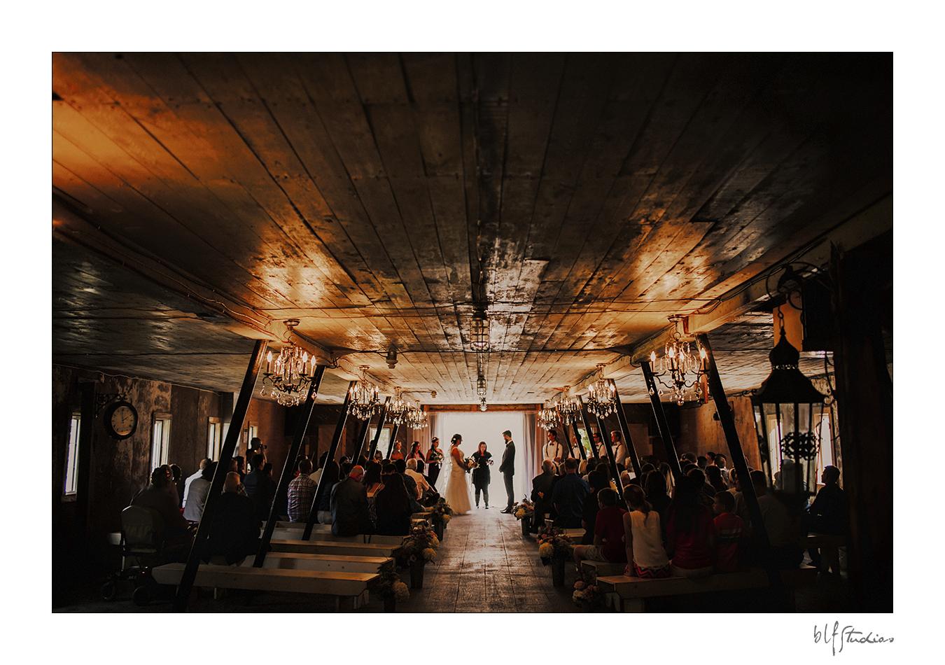 Rustic Wedding Barn ceremony Steinbach