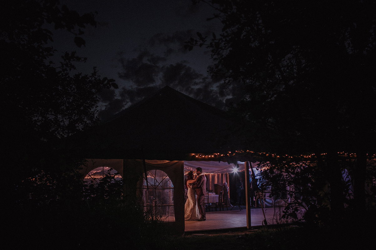 Pineridge Hollow tent wedding venue Winnipeg
