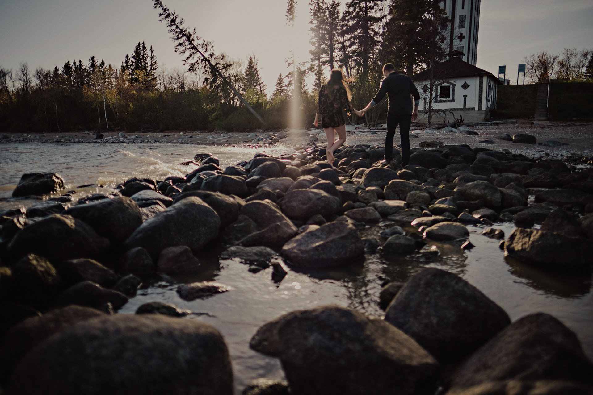 Camp Morton Manitoba engagement photo