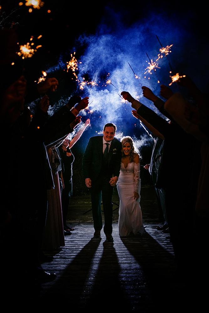 Qualico family Centre Wedding Sparklers