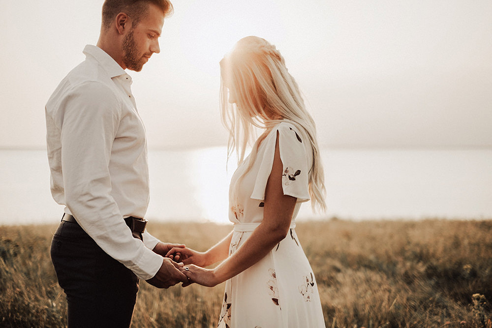 Beautiful connection moment at engagement session Photo by Bond
