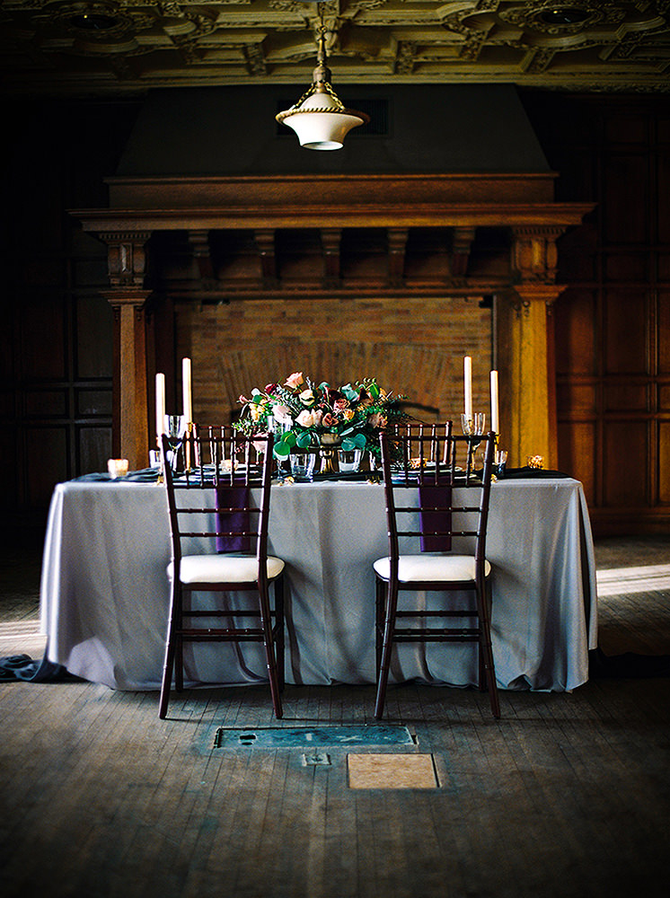 Intimate wedding table setting