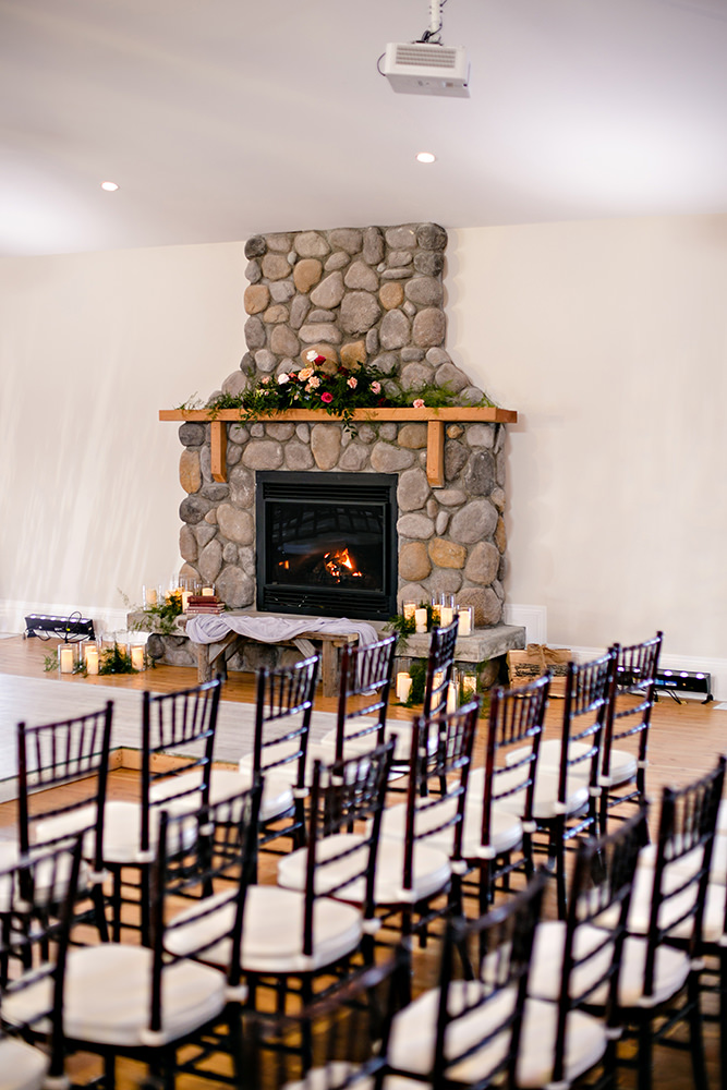 Whitetail Meadow Wedding venue reception area