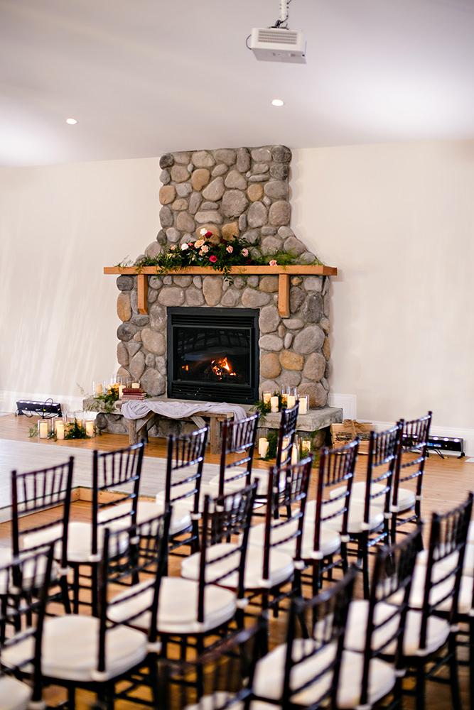 Whitetail Meadow Wedding venue reception area