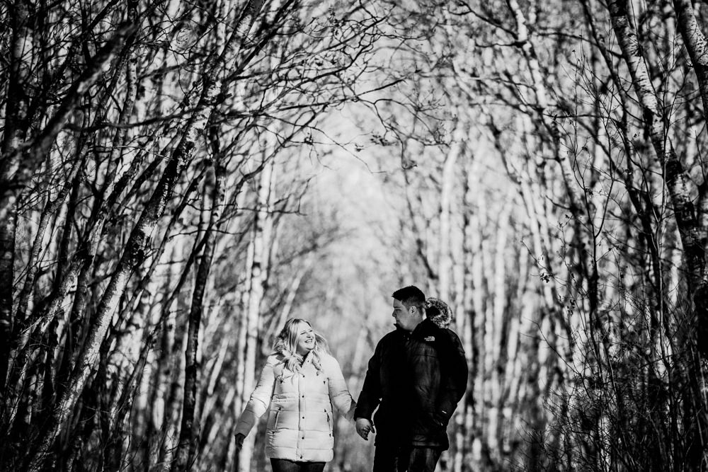 Winnipeg winter engagement photos