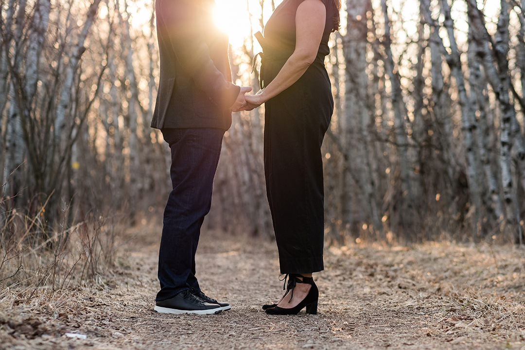 Pre wedding photos in Assiniboine Forest