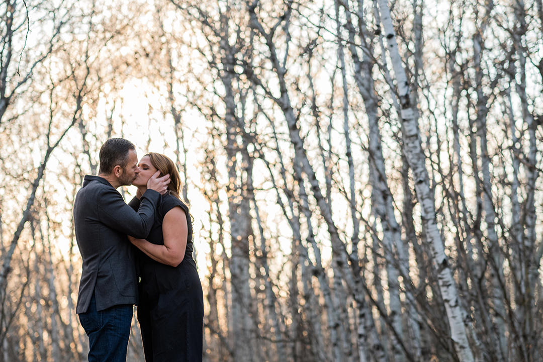 Engagement Photos in Winnipeg Assiniboine Forest