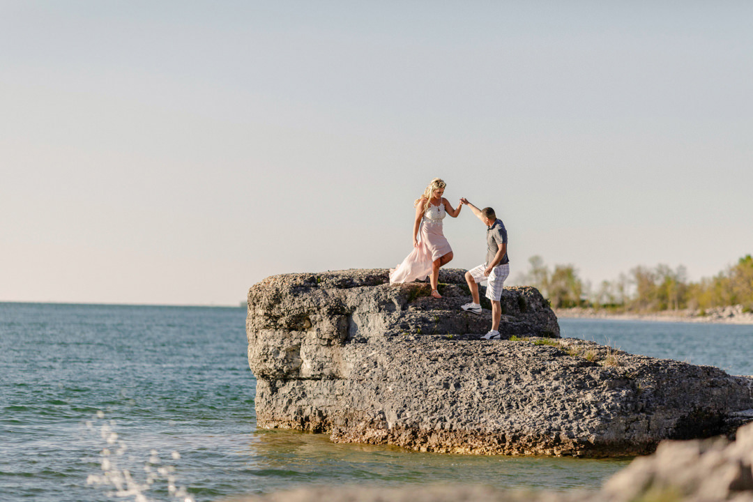 Steep Rock Manitoba Engagement Photo