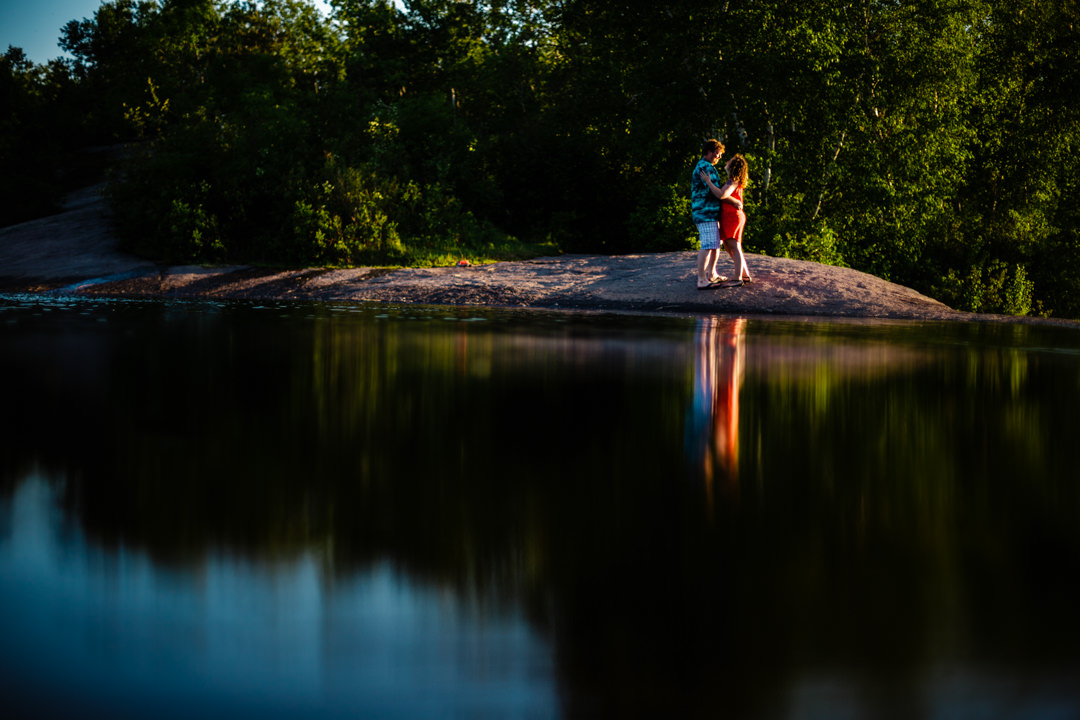 Rainbow Falls Whiteshell engagement session