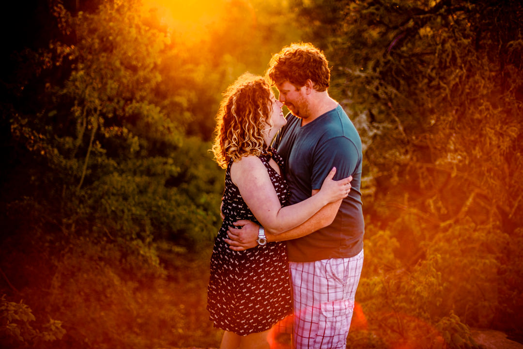 Whiteshell engagement photos Rainbow falls