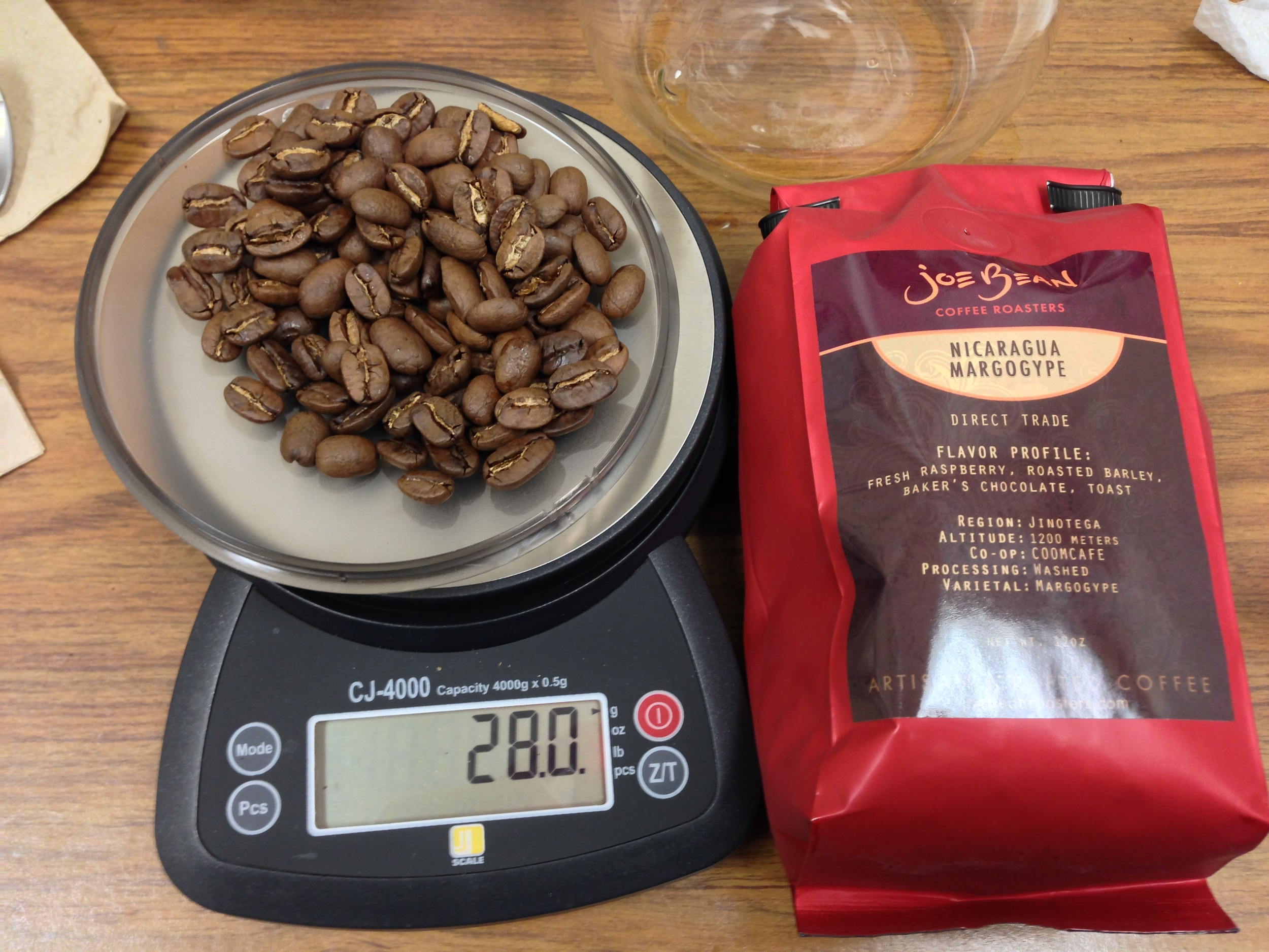 Freshly roasted coffee (2 days) from Joe Bean Coffee Roasters